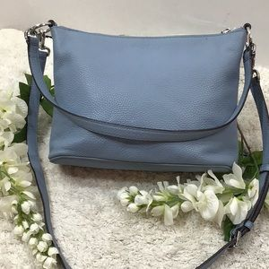 Michael Kors blue leather crossbody satchel